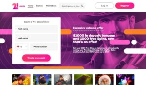 21com Casino Online Bonus