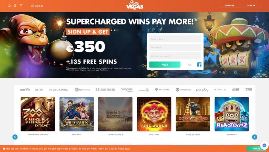 GoSlotty Casino Homepage