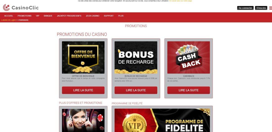 Casino Clic promotions-min