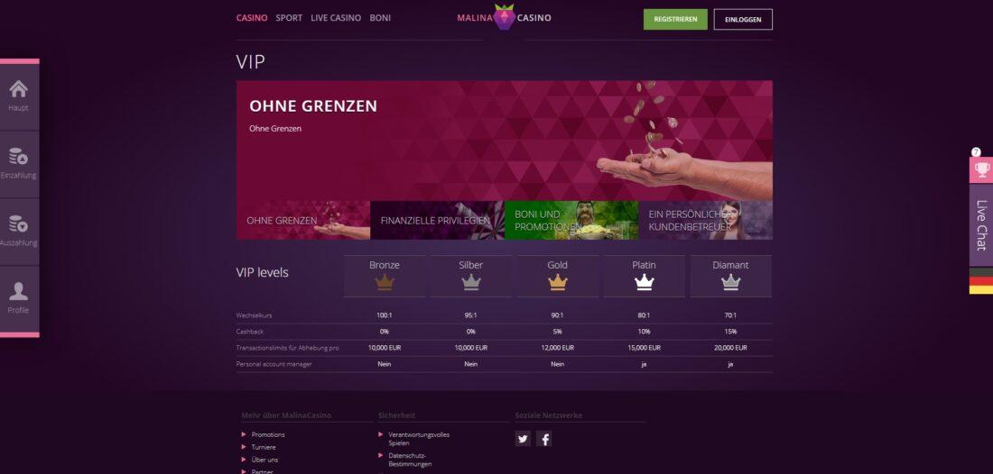 Malina Casino VIP
